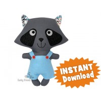 Kawaii Kuties - Easy Japanese Tanuki - RACOON INSTANT DOWNLOAD Sewing Pattern PDF