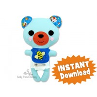 Kawaii Teddy Bear Sewing Pattern