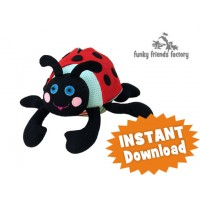 Ladybug Softie Toy Sewing Pattern