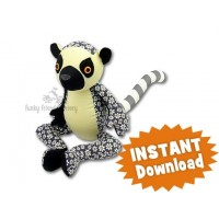Licorice the Lemur INSTANT DOWNLOAD Sewing Pattern PDF