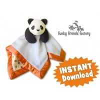 Panda Baby Blanket INSTANT DOWNLOAD