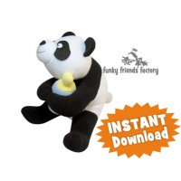Panda Baby Ning Plush Toy Sewing Pattern INSTANT DOWNLOAD