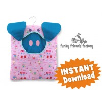 Piggy CLOTHES PEG BAG INSTANT DOWNLOAD Sewing Pattern PDF