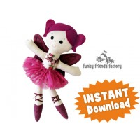 Sugar Plum Fairy CHRISTMAS Cloth Doll Pattern
