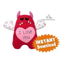 Valentine's Love Monsters Sewing Pattern