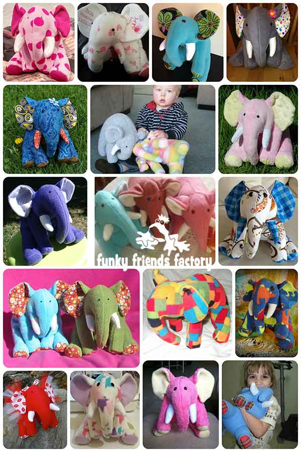 Elephant stuffed toy pattern design - Happy customer feedback photos