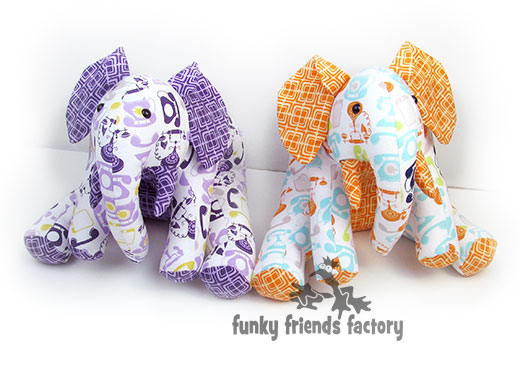 Famous Stuffed Elephant Sewing Pattern Illustration - Knitting ...