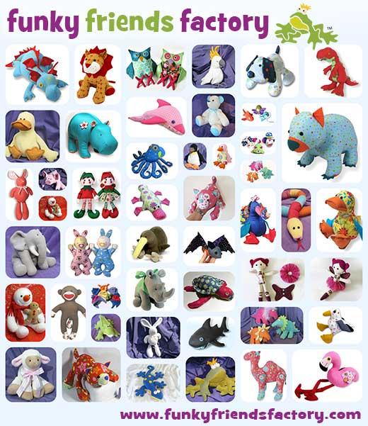 Pauline McArthur stuffed animals toy pattern design