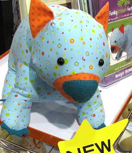Pauline McArthur is the Australian toy designer who created Wodger the Wombat toy pattern design.