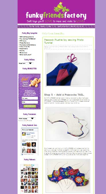 PHOTO TUTORIAL plush toy sewing patterns Toy Sewing Patterns