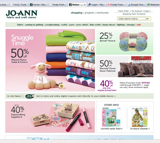 Brambleberry Cottage: Pattern Sale at JoAnn Fabrics - January 2011